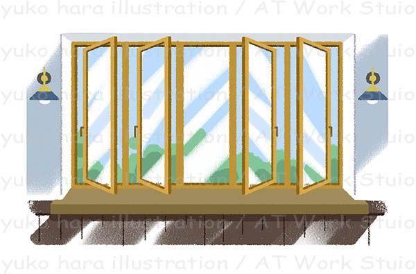 ケースメント窓のイラスト