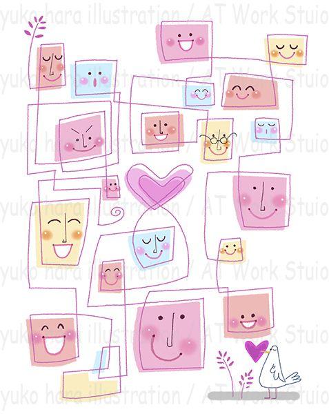 幸せのコミュニケーションのイメージイラスト