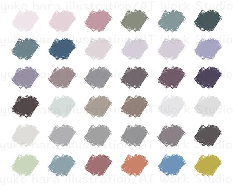 和の配色36種のねずみ色